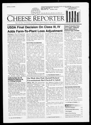 Cheese Reporter, Vol. 127, No. 18, Friday, November 8, 2002