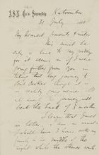 Letter from Janet Love Jack to Robert, Margaret, and Maggie Jack, July 31, 1881