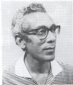 Portrait of Freddie Kissoon from <i>The Strolling Players Theatre Company 41st Anniversary</i> festschrift, 1998