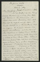 Letter from Samuel Winter Cooke to My dear Father, September 3, 1884