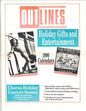Outlines, The Voice of the Gay and Lesbian Community, Special Holiday Gifts & Entertainment, Dec. 1989