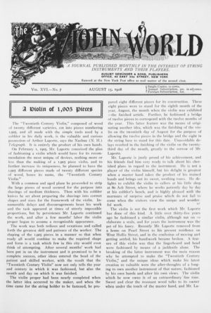 The Violin World, Vol. 16, no. 7, August 15, 1908