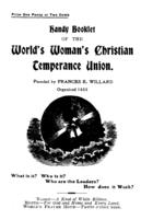 Handy Booklet of the World Woman's Christian Temperance Union