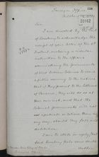 Letter from T. H. Sanderson to Under Secretary of State, Colonial Office, October 14, 1892