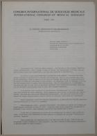 Congrès International De Sexologie Médicale - International Congress of Medical Sexology By Dr. Roger Geraud. (Paris). 4 page(s)