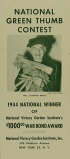 Brochure for the National Green Thumb Contest