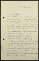 Letter from Philipp Bloch to Markus Brann, February 20, 1912