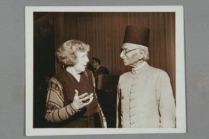 Dorothy Kenyon and Hamid Ali, United Nations, Lake Success, New York