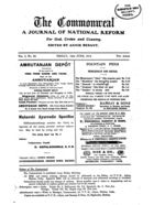 The Commonweal: A Journal of National Reform for God, Crown and Country, Vol. I, No. 24, 12 Jun. 1914