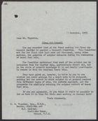 Letter from P. J. Harrop to C. M. Vignoles, November 12, 1957