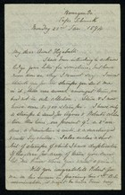 Incomplete Letter from Edith Thompson to My dear Aunt Elizabeth, January 22, 1894