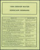 1994 Denver Water Xeriscape Seminars