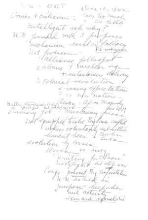 UN-ORT speech Notes
