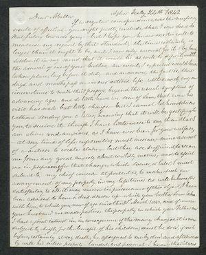 Letter from Francis Pratt Winter to Arbella Winter Cooke, July 24, 1842