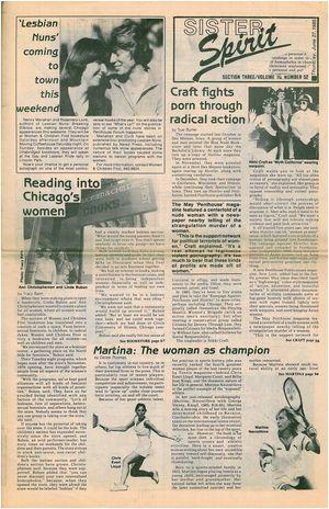 SISTER Spirit SECTION THREE/VOLUME 10, NUMBER 52 Thursday, June 27, 1985