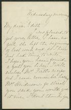 Letter from M. Thompson to Edith Thompson, Undated