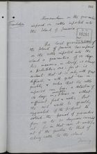 Translation of Memo re: Quarantine Imposed on Cattle Imported into Island of Jamaica, September 06, 1893