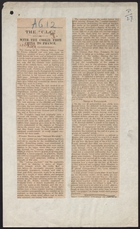 The 'C. L. C.': With the Coolie from China to France, article from unidentified newspaper, 1918