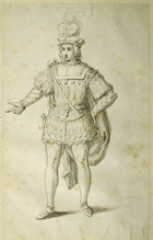 Youth in ancient British costume, c.1611 (pen & ink on paper)