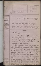 Colonial Office Correspondence Register, re: Letter from Foreign Office on Labour Contracts for Panama Canal Workers, with Related Minutes, January 18, 1905