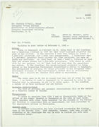 Letter from John T. Lassiter to Charles O'Neill re: General items contained in reports submitted January 9, 1943, March 1, 1943
