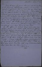 Letter from Villars Butler to Anonymous Friend, July 5, 1870