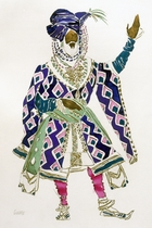 Costume Design for a Sultan (w/c on paper)