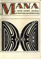 MANA: A South Pacific Journal of Language and Literature, Vol. 6, No. 2
