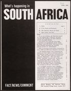 What's Happening In South Africa, June 1964 (Pg.Int.Ab.3.V)