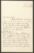 Letter from Ethel Anderson to Edith Thompson, March 11