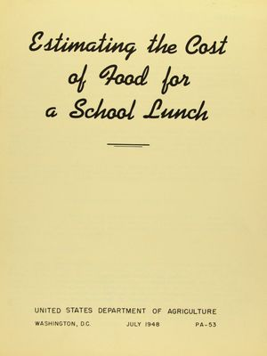 Estimating the Cost of Food for a School Lunch