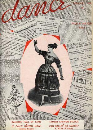 Dance (Magazine), Vol. 1, no. 4, January, 1937, Dance, Vol. 1, no. 4, January, 1937