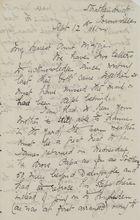 Letter from Ellie Love Macpherson to Maggie Jack, September 12, 1881