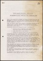 Anti-Apartheid Movement programme of action, re: Isolate Apartheid South Africa -- Sanctions Now, March 21, 1981-March 21, 1982