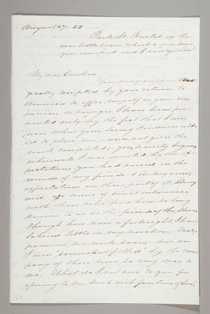 Letter from Sarah Pugh to Caroline Weston, August 27, 1852