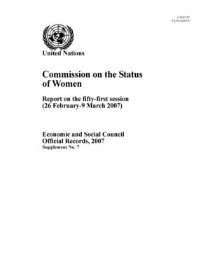 Report on the 51st Session, New York, 26 February-9 March 2007