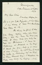 Letter from Robert Anderson to Edith Thompson, September 16, 1892