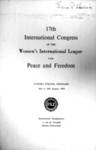 17th International Congress of the Women's International League for Peace and Freedom