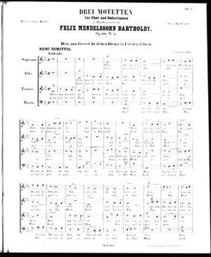Drei Motetten für Chor und Solostimme