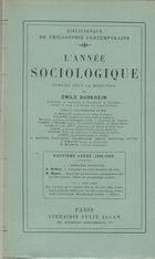 Selected Articles from L'Annee Sociologique, 1901-1905