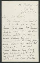 Letter from Annie Fitzpatrick to Samuel Winter Cooke, July 4, 1912