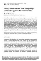 Using Countries as Cases: Designing a Course in Applied Macroeconomics