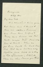 Letter from Rex Anderson to Edith Thompson, September 15, 1892