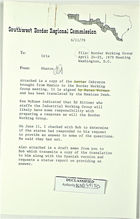 Memo to Cristobal P. Aldrete re: Border Working Group Meeting, With Attachment, June 11, 1979