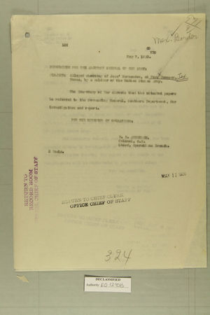 Alleged Shooting of Jose Hernandez, at Fort Hancock, Texas, by a Soldier of the United States Army, May 7, 1920
