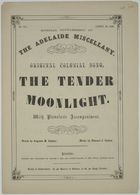 Musical score of an original colonial song: