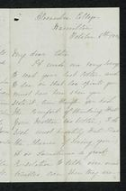 Letter from Charlotte Hearn to Edith Thompson, October 6, 1884