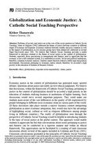 Globalization and Economic Justice: A Catholic Social Teaching Perspective