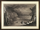 Set design to Turandot by Giacomo Puccini (1858-1924), by Galileo Chini (1873-1956), charcoal sketch by Mario Vellani Marchi (1895-1979)