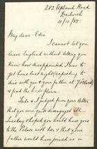 Letter from Charles E. Howitt to Edith Thompson, November 4, 1885